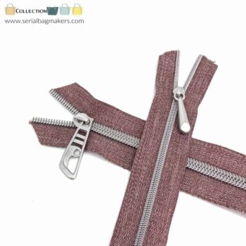 Zipper by the yard #5 - Chestnut tape with nickel coil