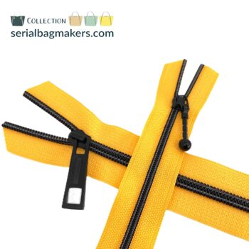 Zipper by the yard #5 - Golden Yellow tape with black coil